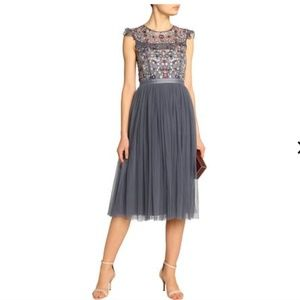 NWT - Needle & Thread Embroidered Tulle Dress